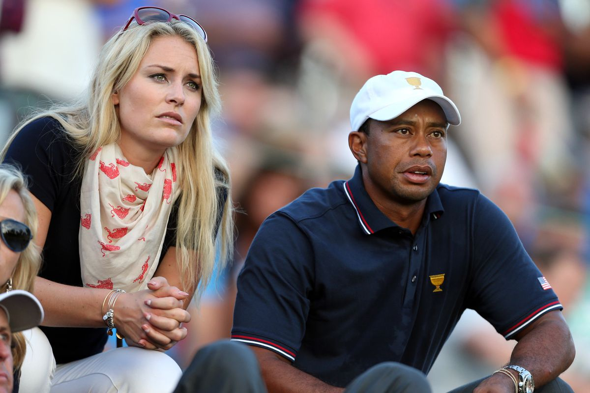 tiger woods helps lindsey vonn rehab for the olympics