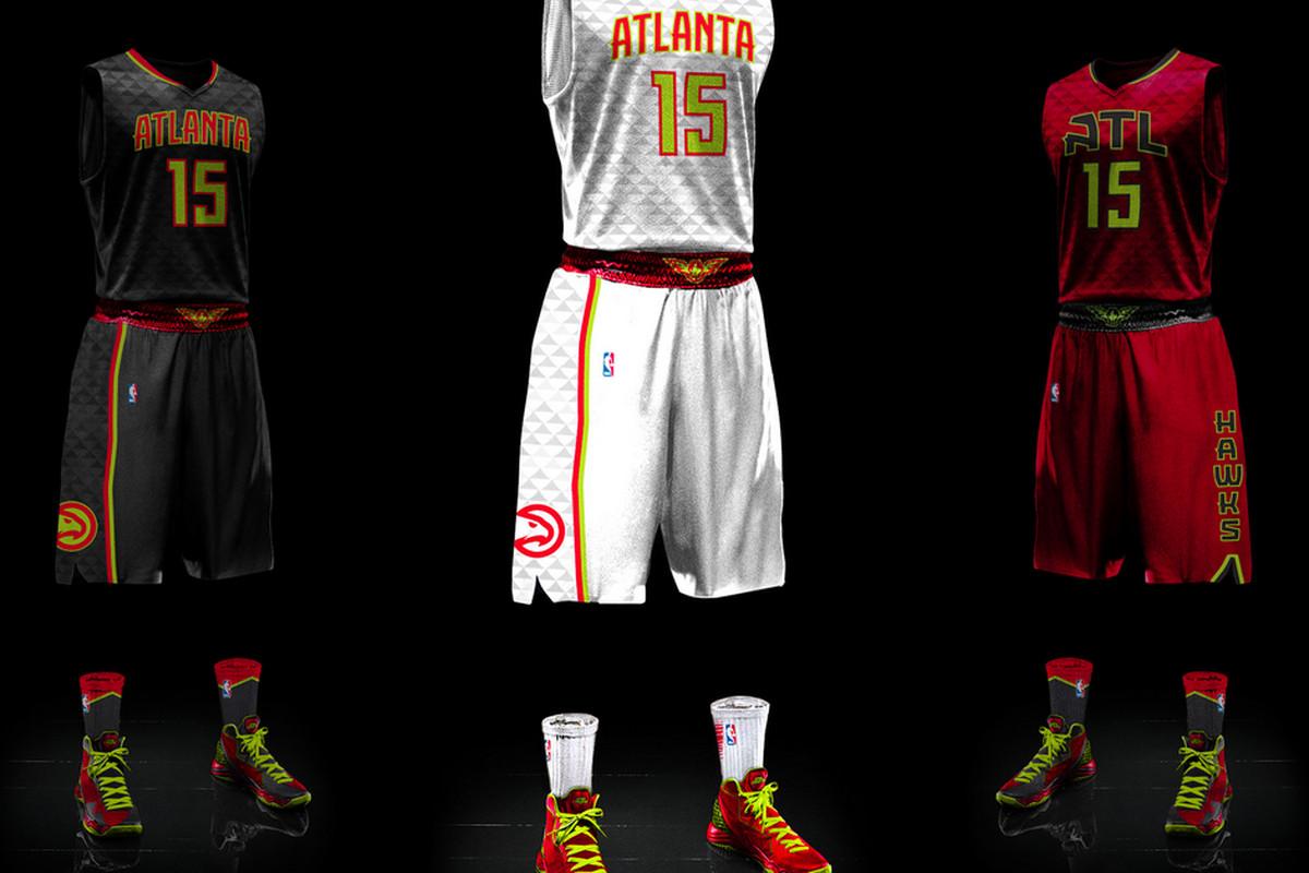 7e0336b9f42 The new Hawks jerseys are weird