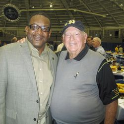 Billy Casper and Jerome Heavens, a member of Notre Dame?s 1977 national championship football team.