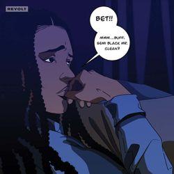 """Aisha: """"Bet!! Mmm...buff, semi-Black Mr. Clean?"""""""
