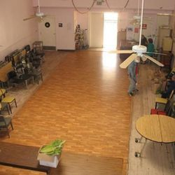 Picture this room, filled up with long picnic tables holding beer and bbq.