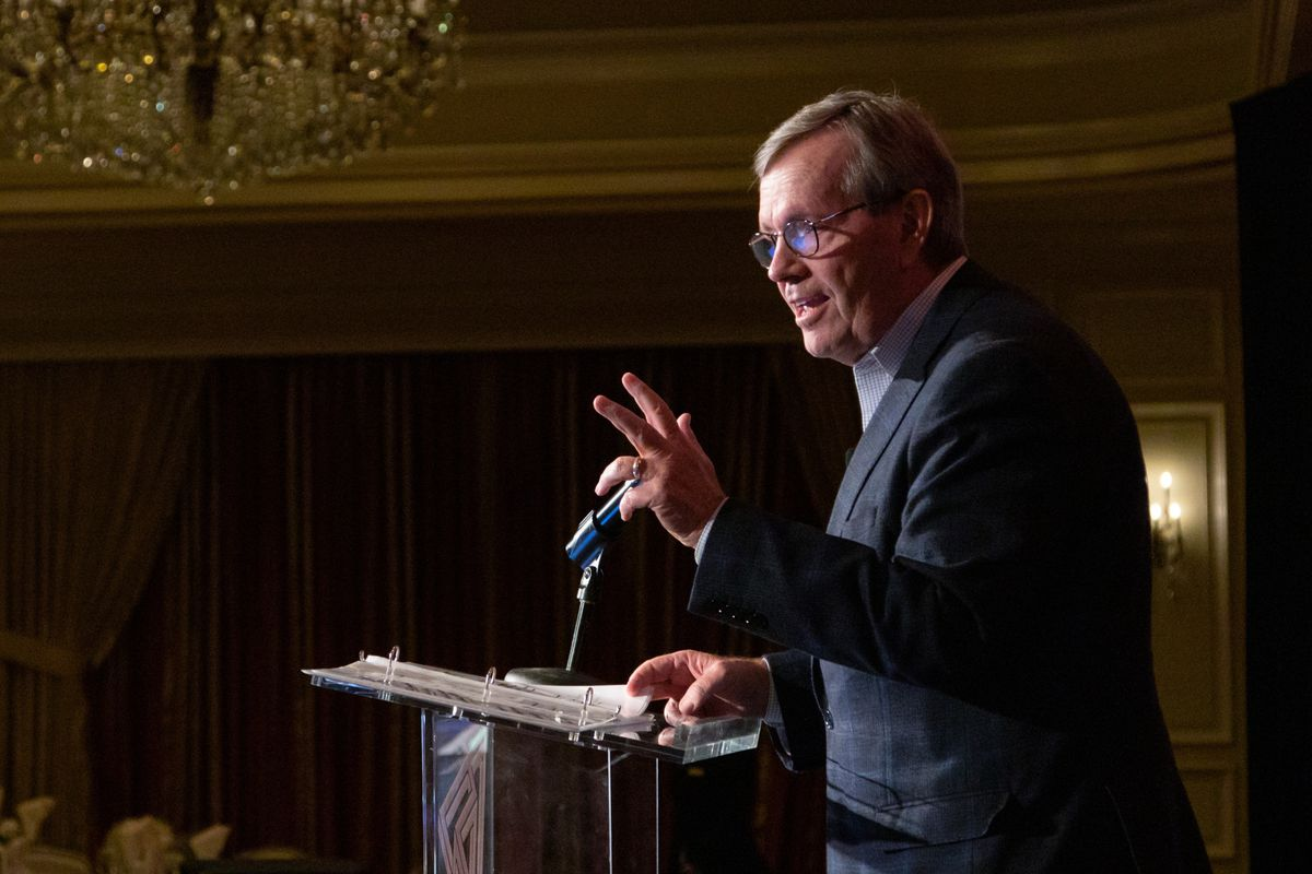Former Utah Gov. Mike Leavitt, who also served in two Cabinet positions for former President George W. Bush, helped lay the groundwork for the state's current tech boom. On Monday, April 1, 2019, he urged leaders at the Utah Technology Innovation Summit t
