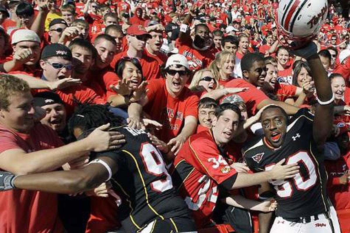 The crowd won't be as a Terp friendly on Saturday but hopefully the outcome's the same.