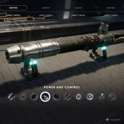 Power and Control lightsaber emitter