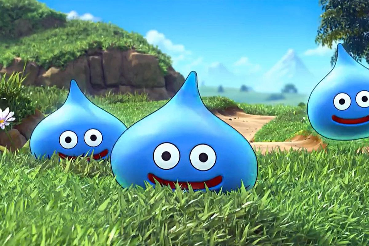 The mascot monster of Dragon Quest the classic Slime