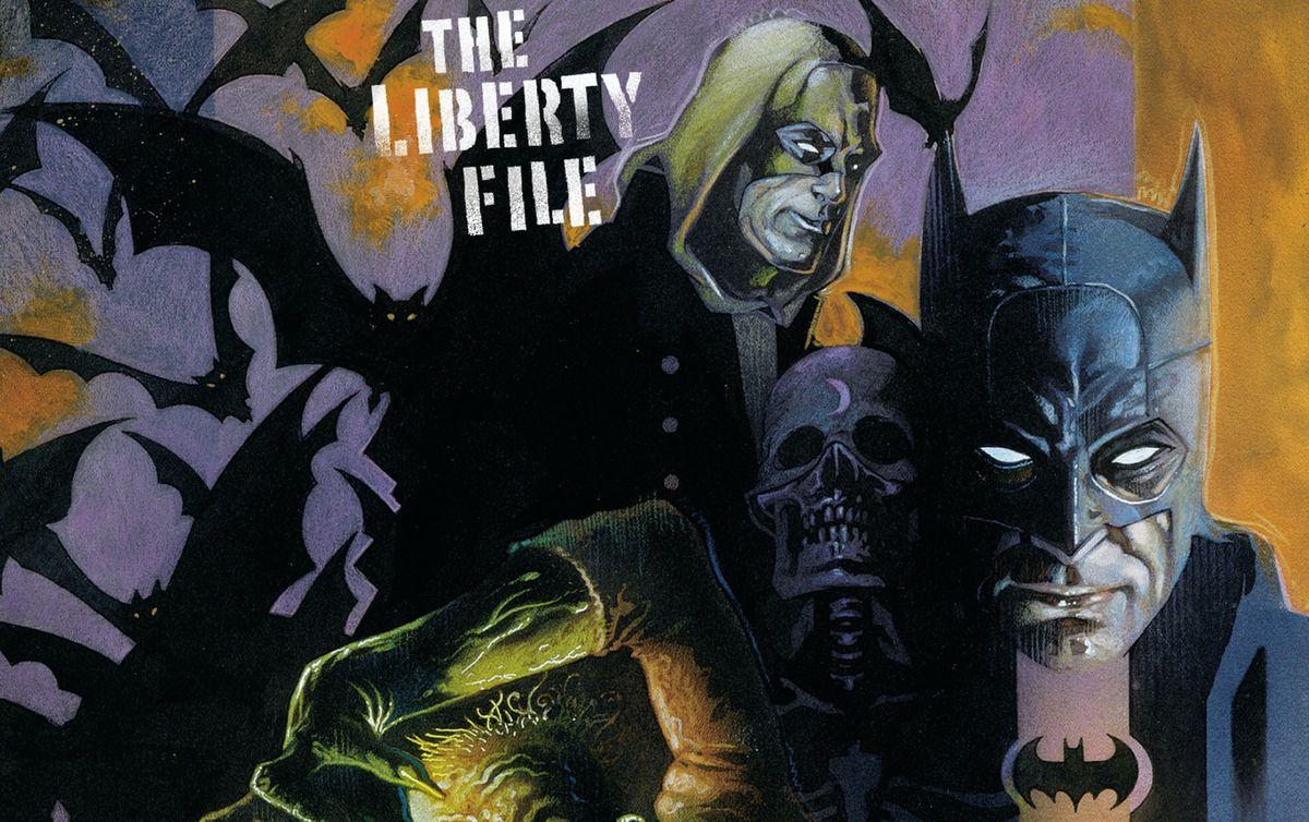 Batman and Hourman on the cover of JSA: The Liberty File #2, DC Comics (2000).