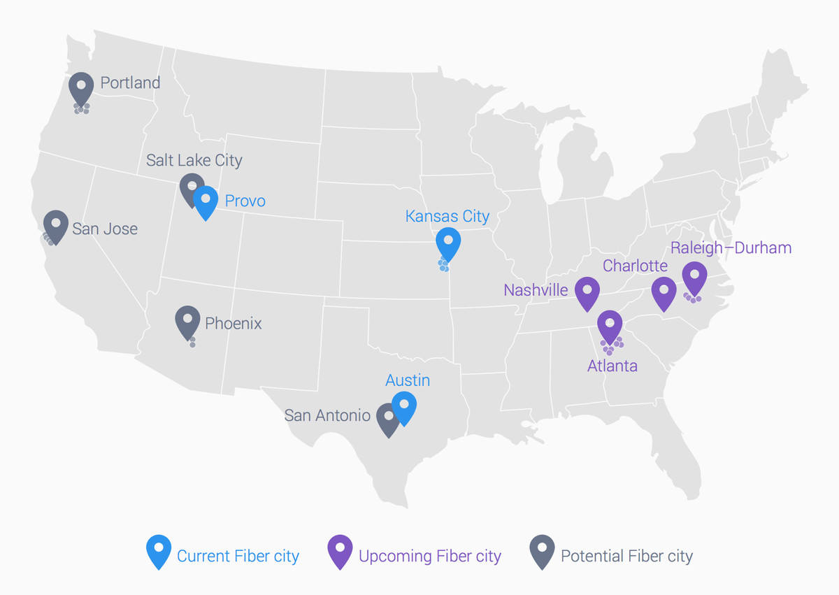 Google Is Bringing Superfast Internet To Four Cities Cable Wired Broadband Diagram That Gives Companies Like Att Verizon Comcast And Time Warner A Lot Of Reason Worry The Incumbent Providers Have Been Upgrading Their Networks