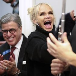 Actress Kristin Chenoweth sings during the Encircle SLC weekly music night in Salt Lake City on Thursday, Oct. 17, 2019. Encircle provides programs and other services forLGBTQ individuals to find information and support.