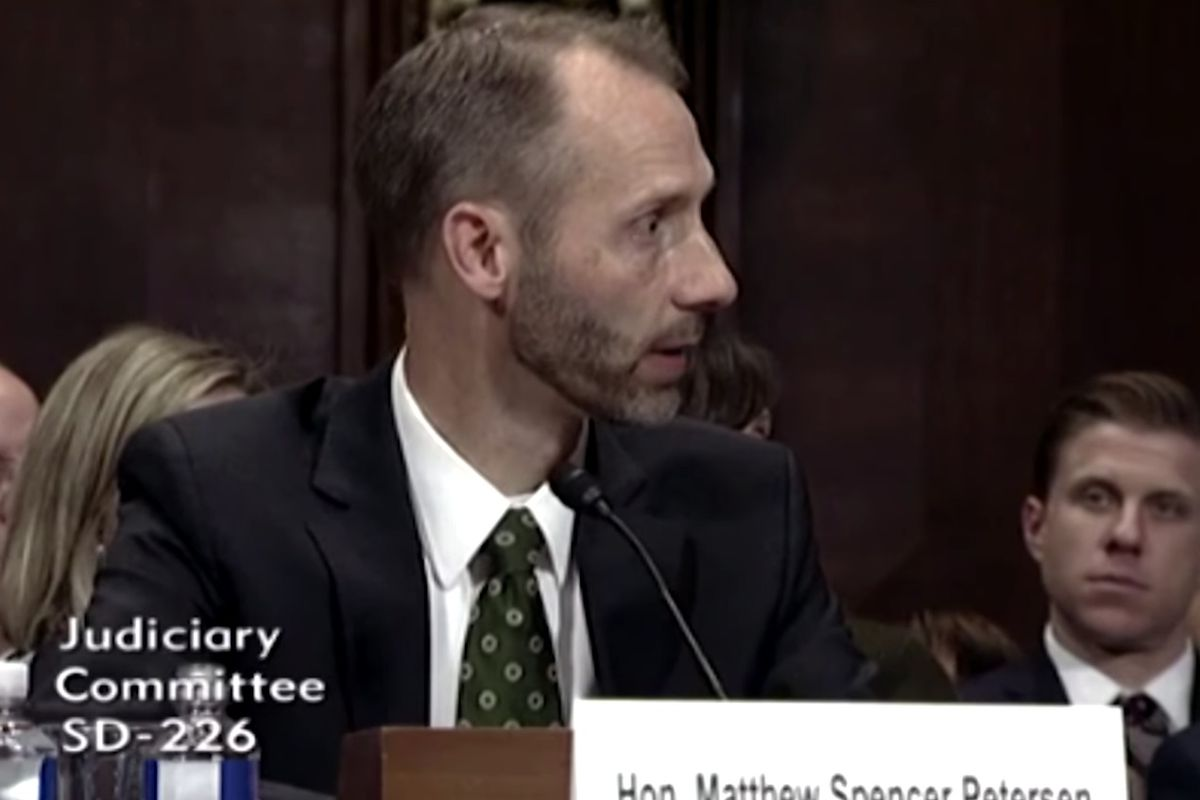 Matthew Petersen, nominated by Trump to the United States District Court for the District of Columbia, became an internet sensation after the video of his confirmation hearing — during which Petersen was unable to define basic legal terms — was posted onl