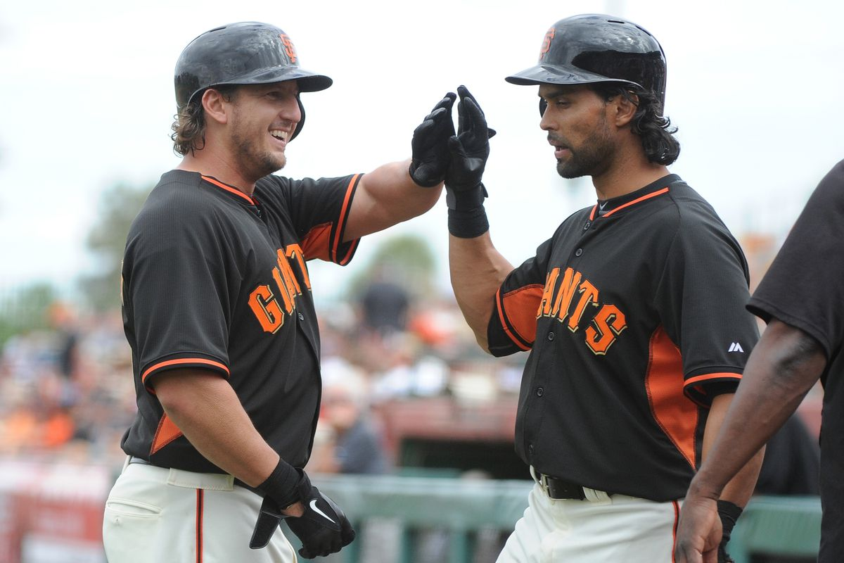 Fun fact: Angel Pagan has never looked an infielder in the eye in his life