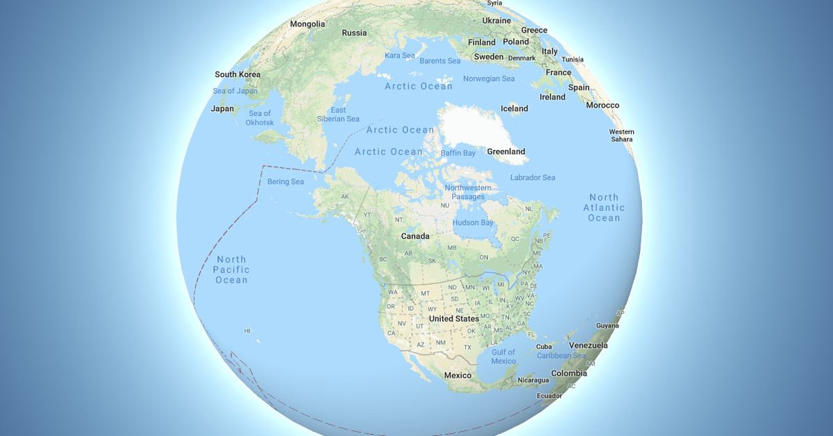 Globe Map Pictures.Google Maps Now Depicts The Earth As A Globe The Verge