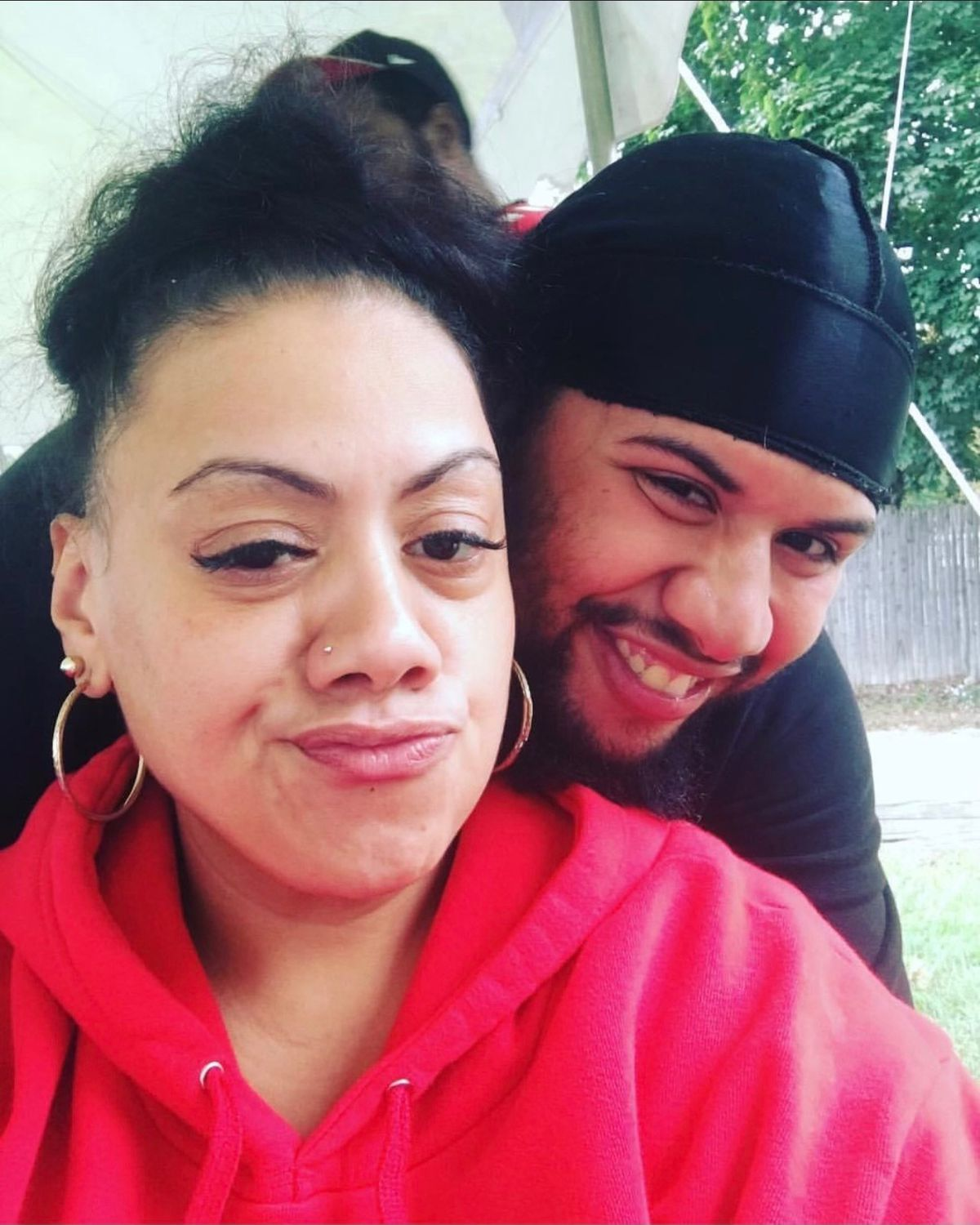 Brandon Rodriguez, 25, with his mother Tamara Carter. Rodriguez was found dead inside a Rikers Island intake cell on Aug. 10.