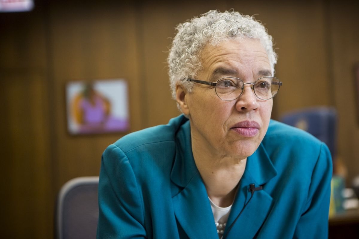 Cook County President Toni Preckwinkle.