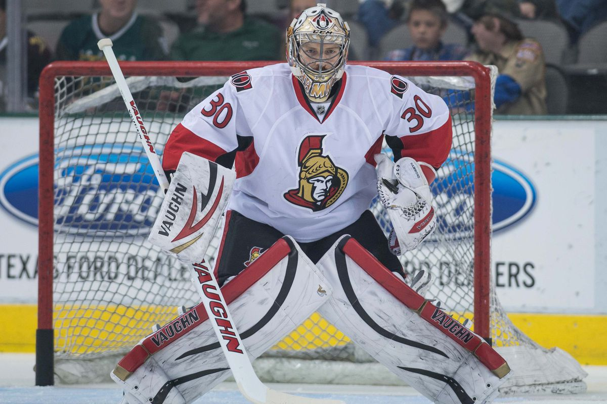 Andrew Hammond is the first call-up if a goaltender in Ottawa goes down.