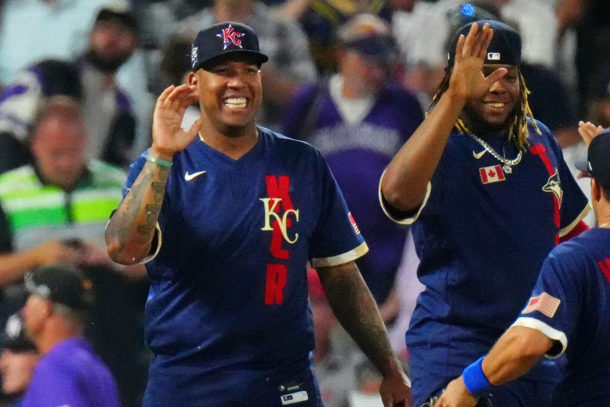 Salvador Perez in his All-Star Game jersey