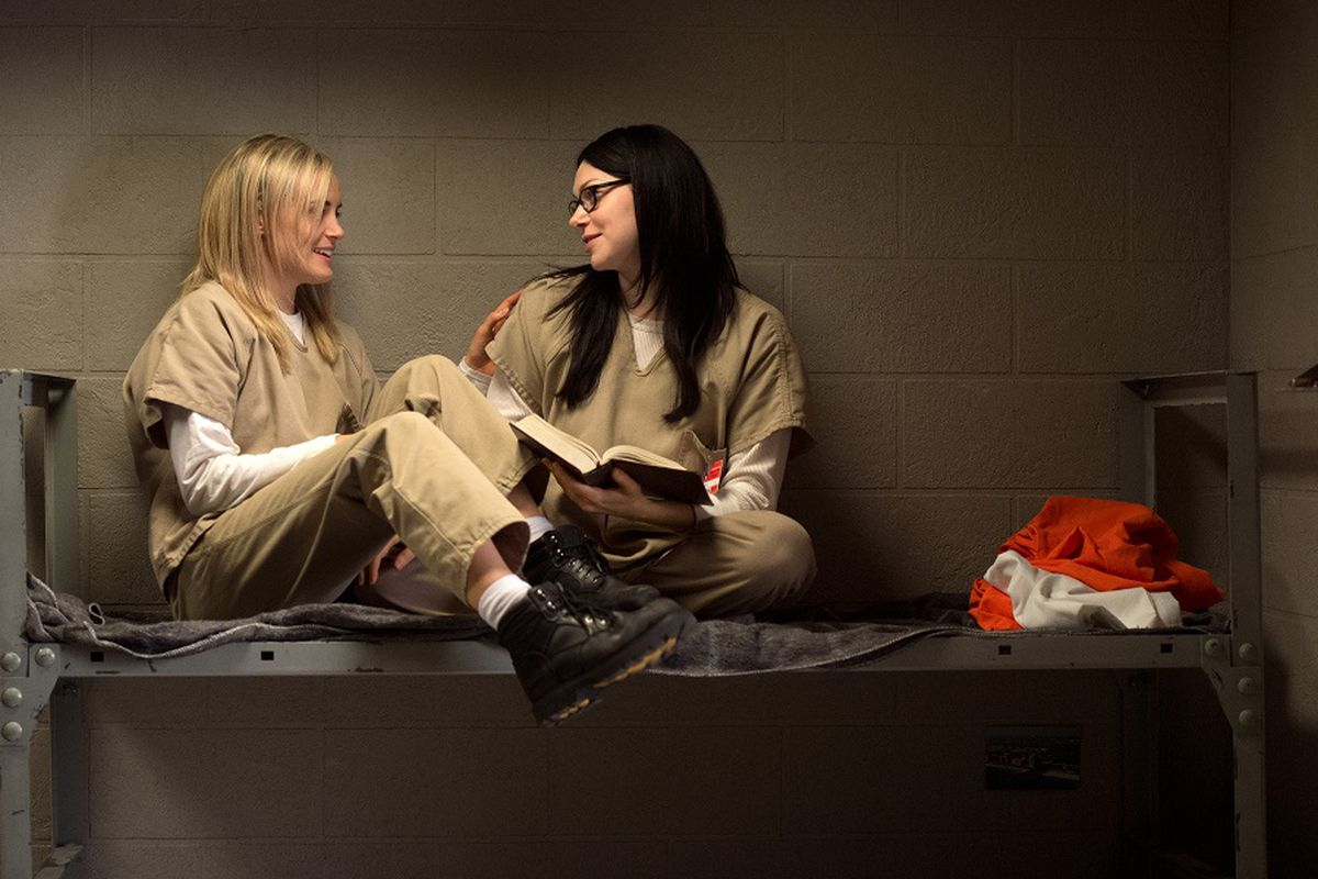 Taylor Schilling and Laura Prepon star in Orange Is the New Black.