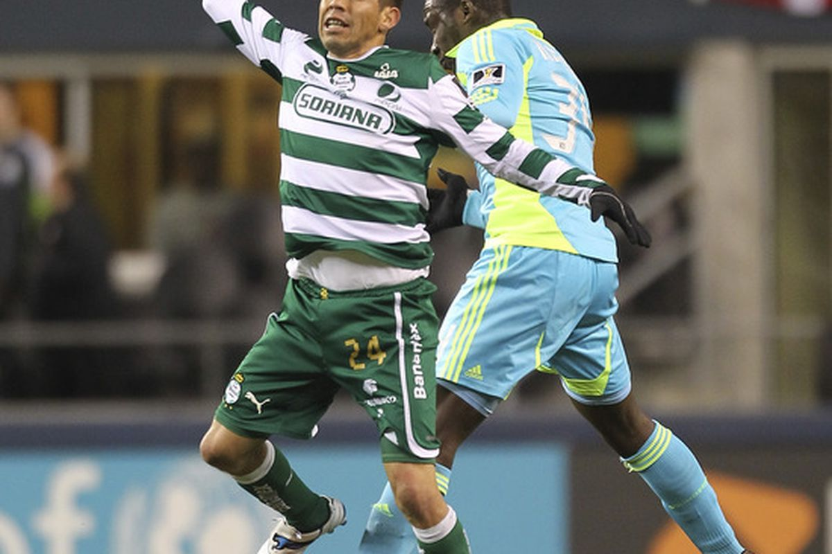 Oribe Peralta is with the Mexican Olympic Team, but Santos finds themselves undefeated through the first three weeks of the Apertura 2012. (Photo by Otto Greule Jr/Getty Images)