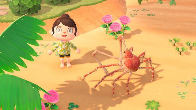 A spider crab in Animal Crossing.