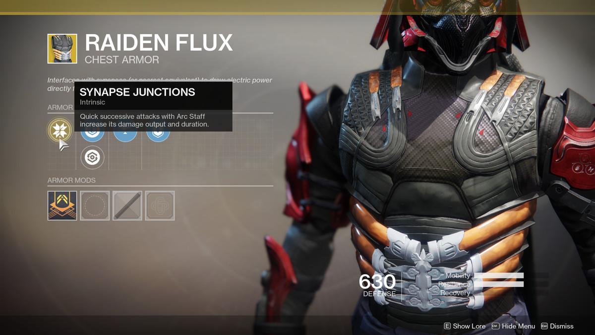 Raiden Flux Exotic Destiny 2
