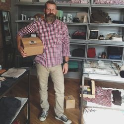 """I've curated the apothecary & beauty section of the newly opened <b>Caron Callahan</b> shop at the <b>Wythe Hotel</b>. Today is my day in the shop. Michael from <b><a href=""""http://fieldapothecary.com/"""">Field Apothecary</a></b> stopped by to drop off an or"""