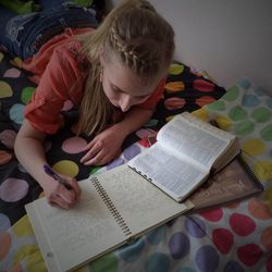 """Victoria Jorgensen, a 19-year-old from Riverton who is turning in her missionary application on Sunday, says she is preparing for her mission by studying the """"Preach My Gospel"""" manual and reading the scriptures """"like crazy."""""""
