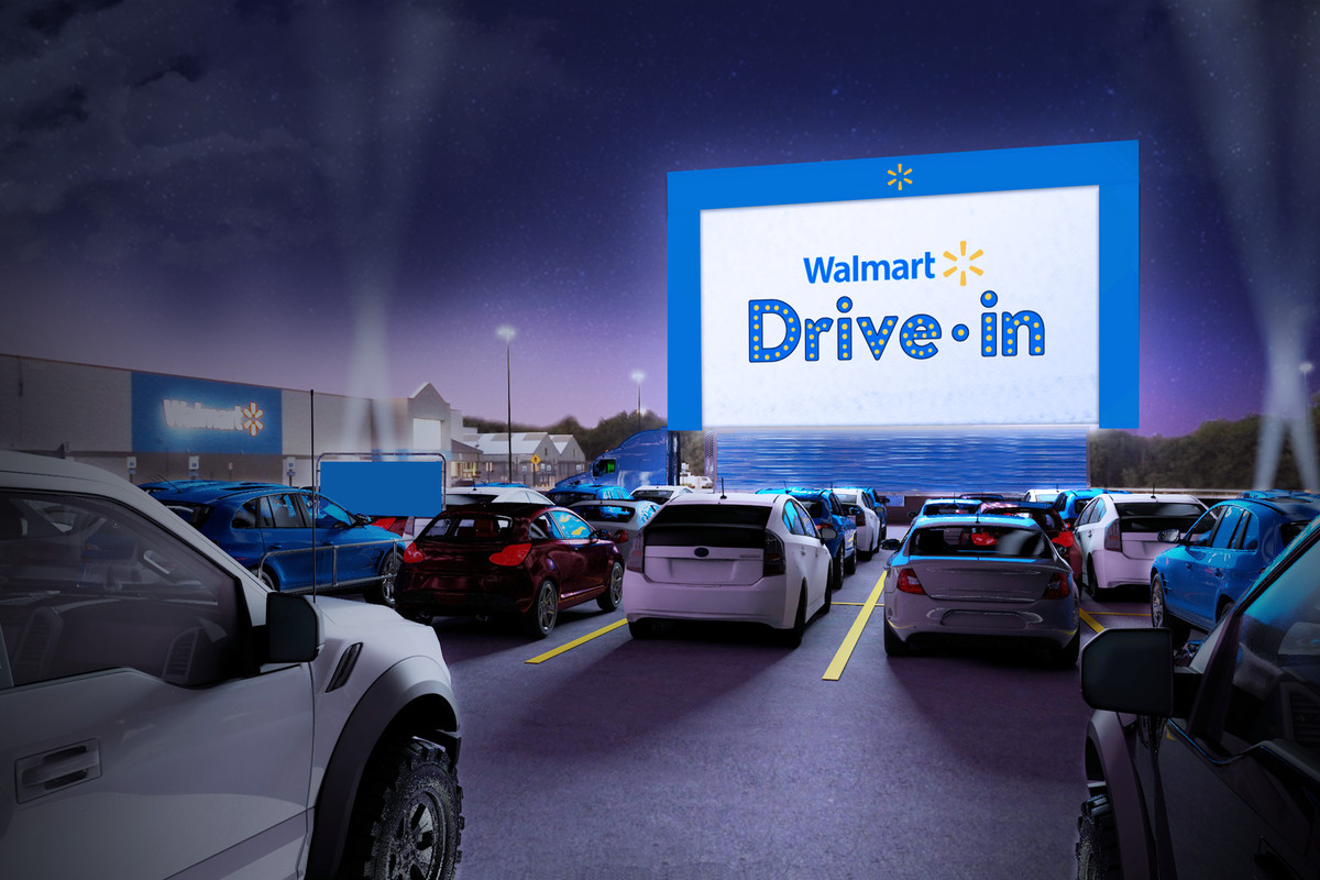 Walmart is converting its parking lots into drive-in theaters for ...