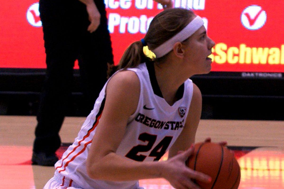 Sydney Wiese saw her first playing time in eight games scoring a solid 12 points as Oregon State defeats Utah 62 to 53