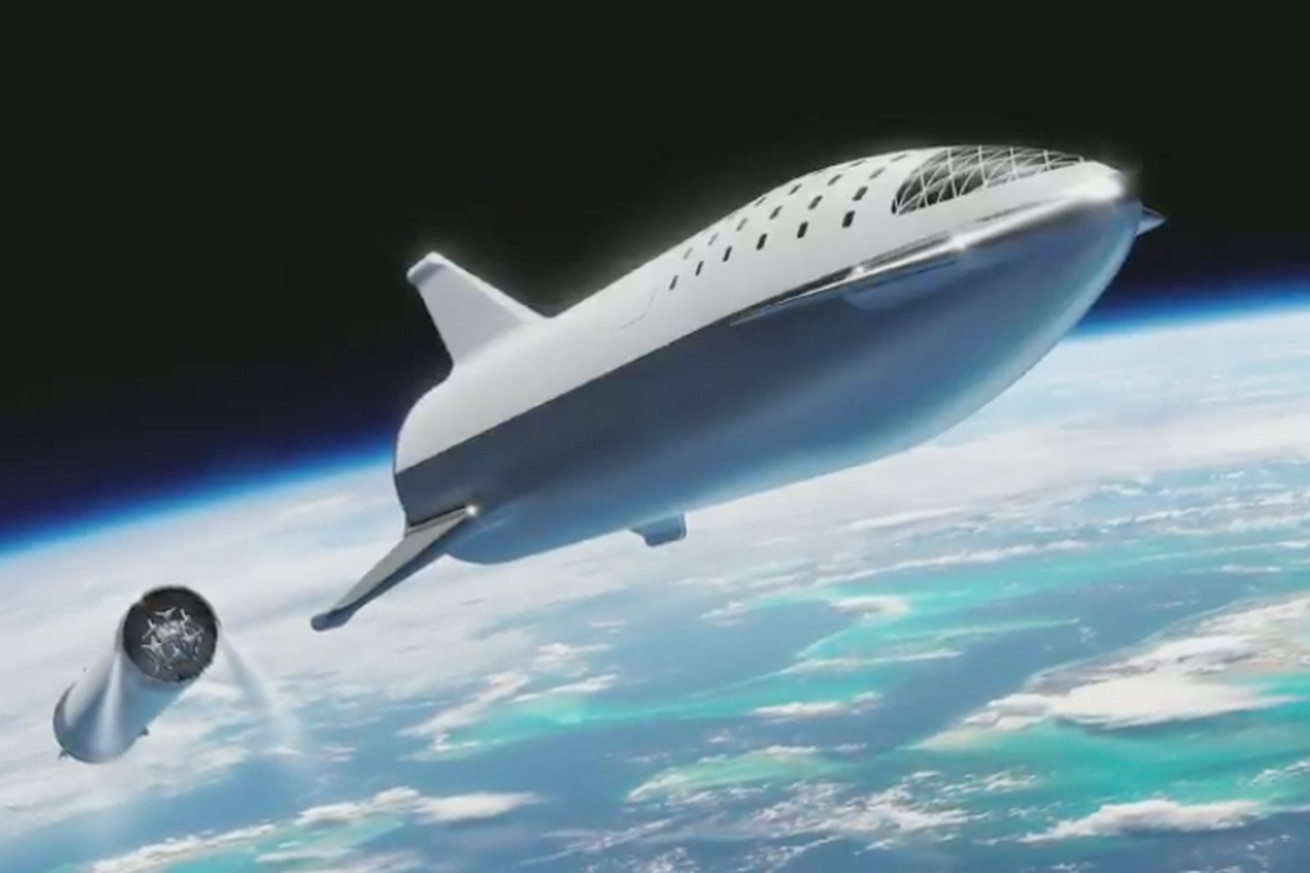 elon musk reveals updated design for future spacex mars rocket