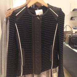 IRO leather-detail jacket, $311