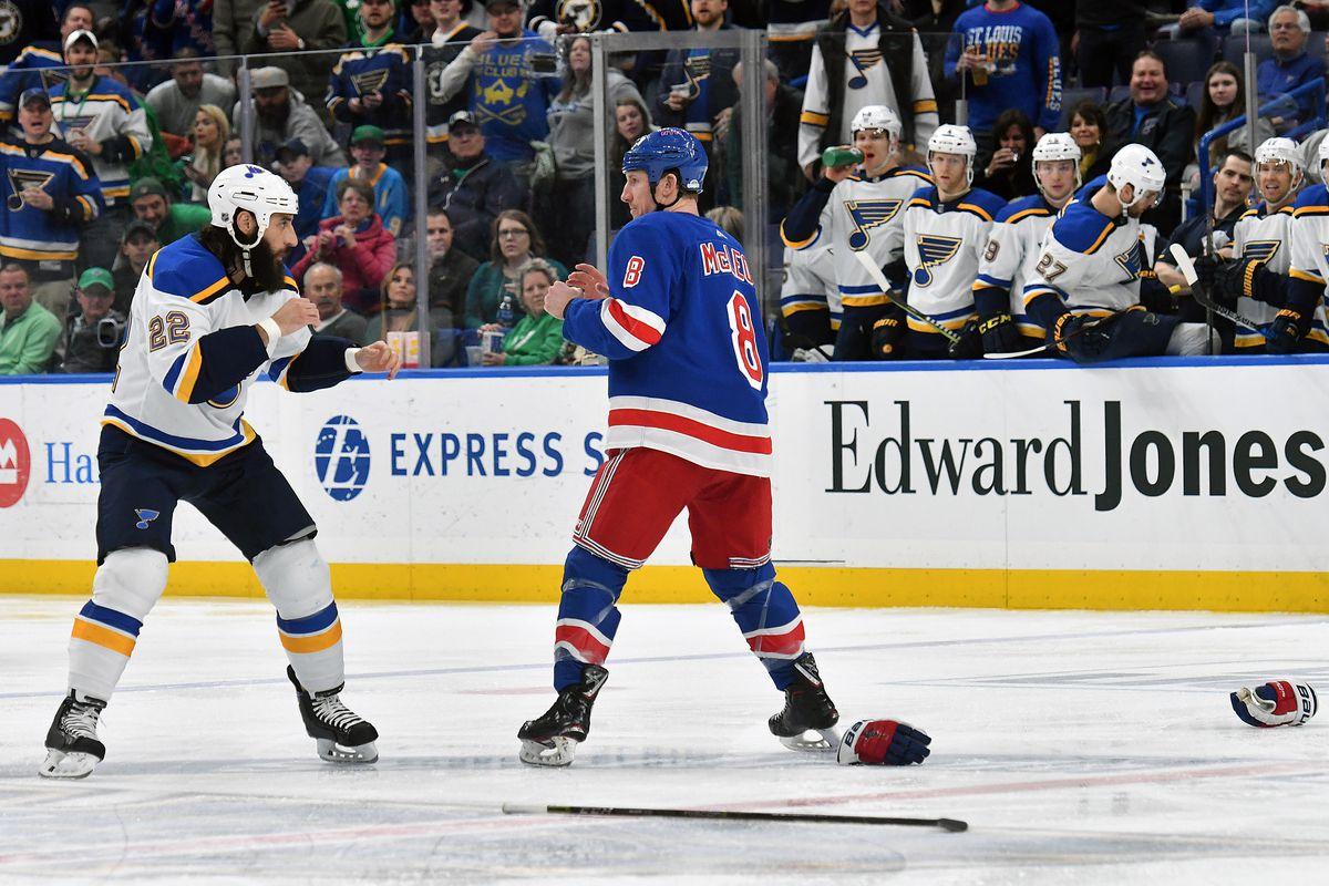 NHL: MAR 17 Rangers at Blues