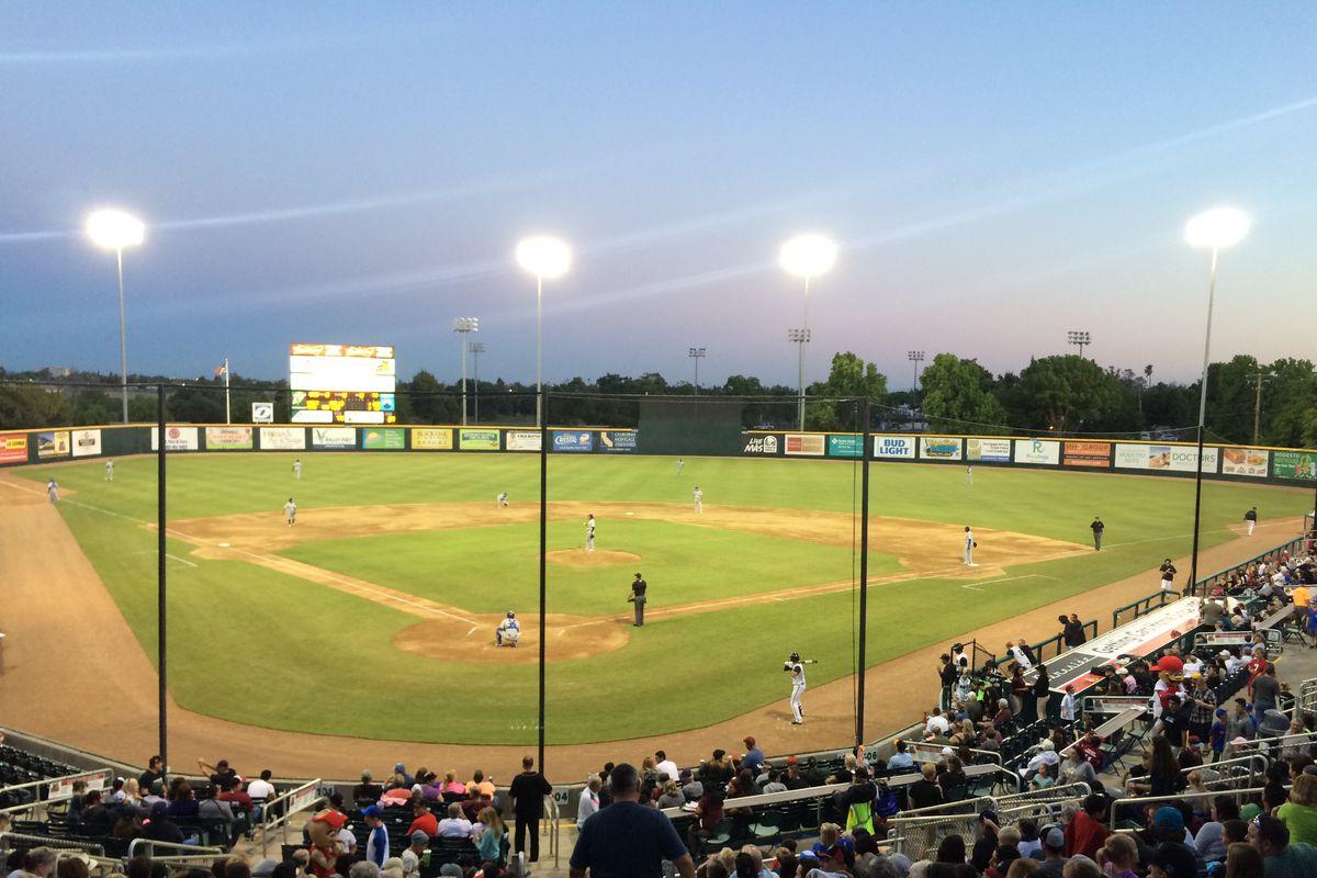 John Thurman Field in Modesto, Calif. Henderson Alvarez threw four innings of one-run ball in a rehab start on April 30.