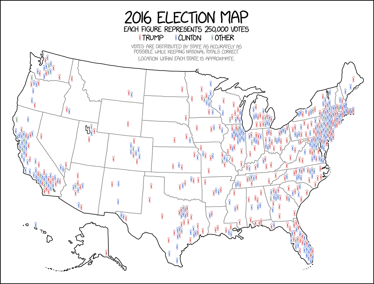 This might be the best map of the 2016 election you ever see vox xkcd with gumiabroncs Image collections