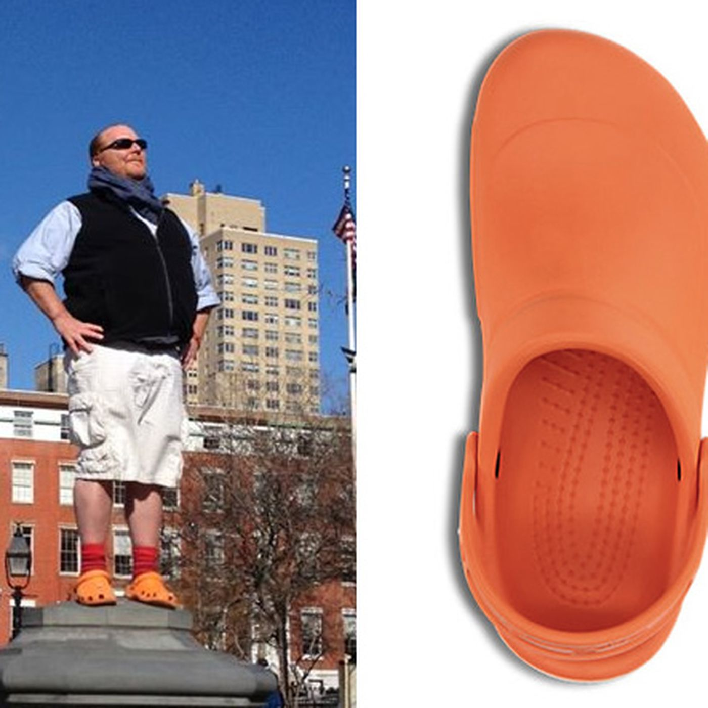 a5cea22a1 Mario Batali Ordered 200 Pairs of Orange Crocs Because the Color Was  Discontinued
