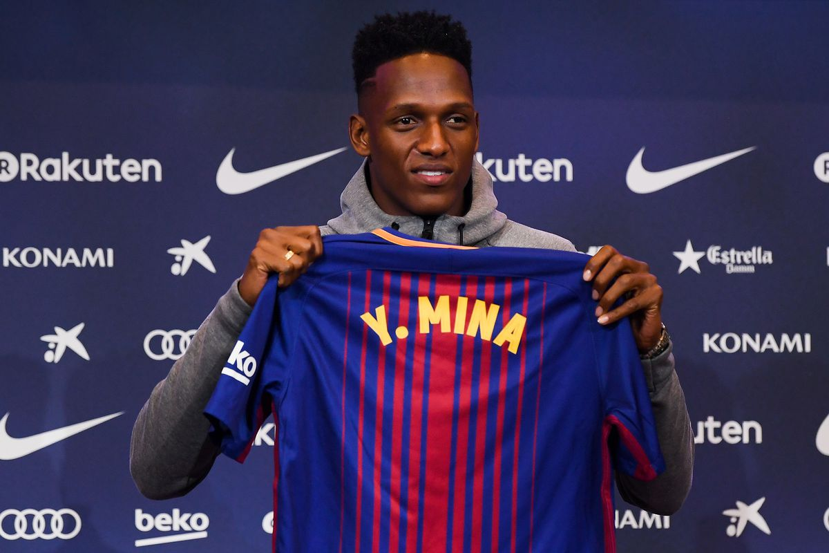 Is yerry mina ready to start crucial matches for fc barcelona photo by david ramosgetty images stopboris Choice Image