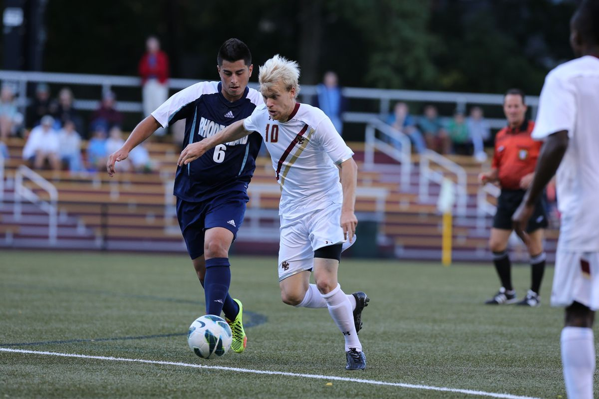 Not quite sure what is whiter.  That Boston College kit of Kyle Bekkers hair?