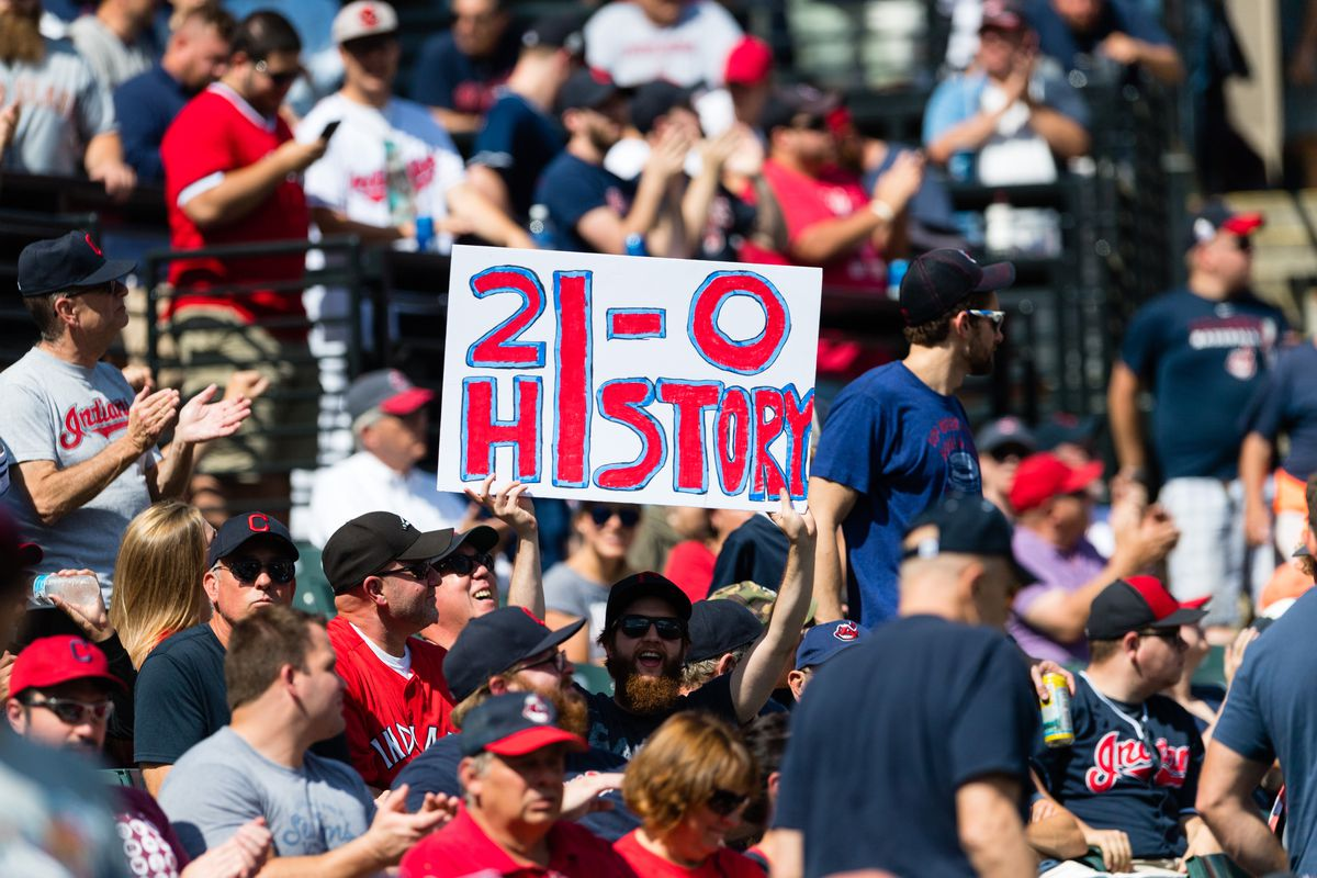 Cleveland Indians win 19 straight; historic record on the horizon