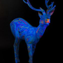"""Glow-in-the-dark """"Snow Globe"""" by Ponti Lambros."""