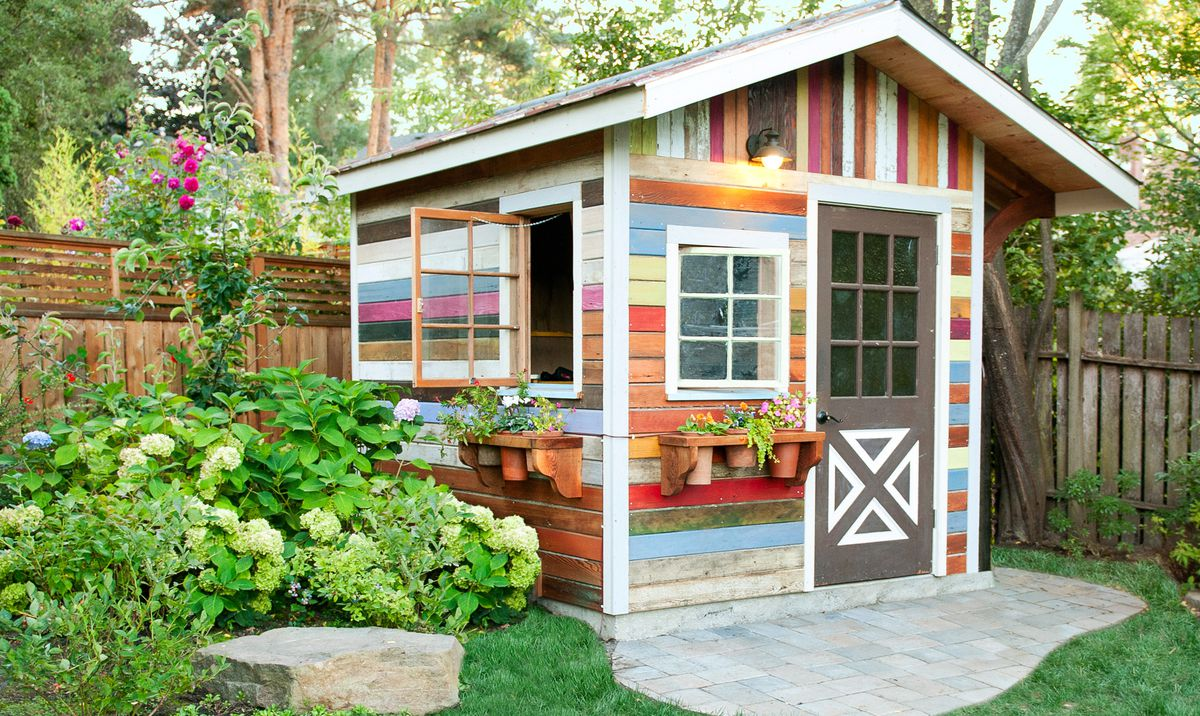 Recycled And Reused Garden Shed