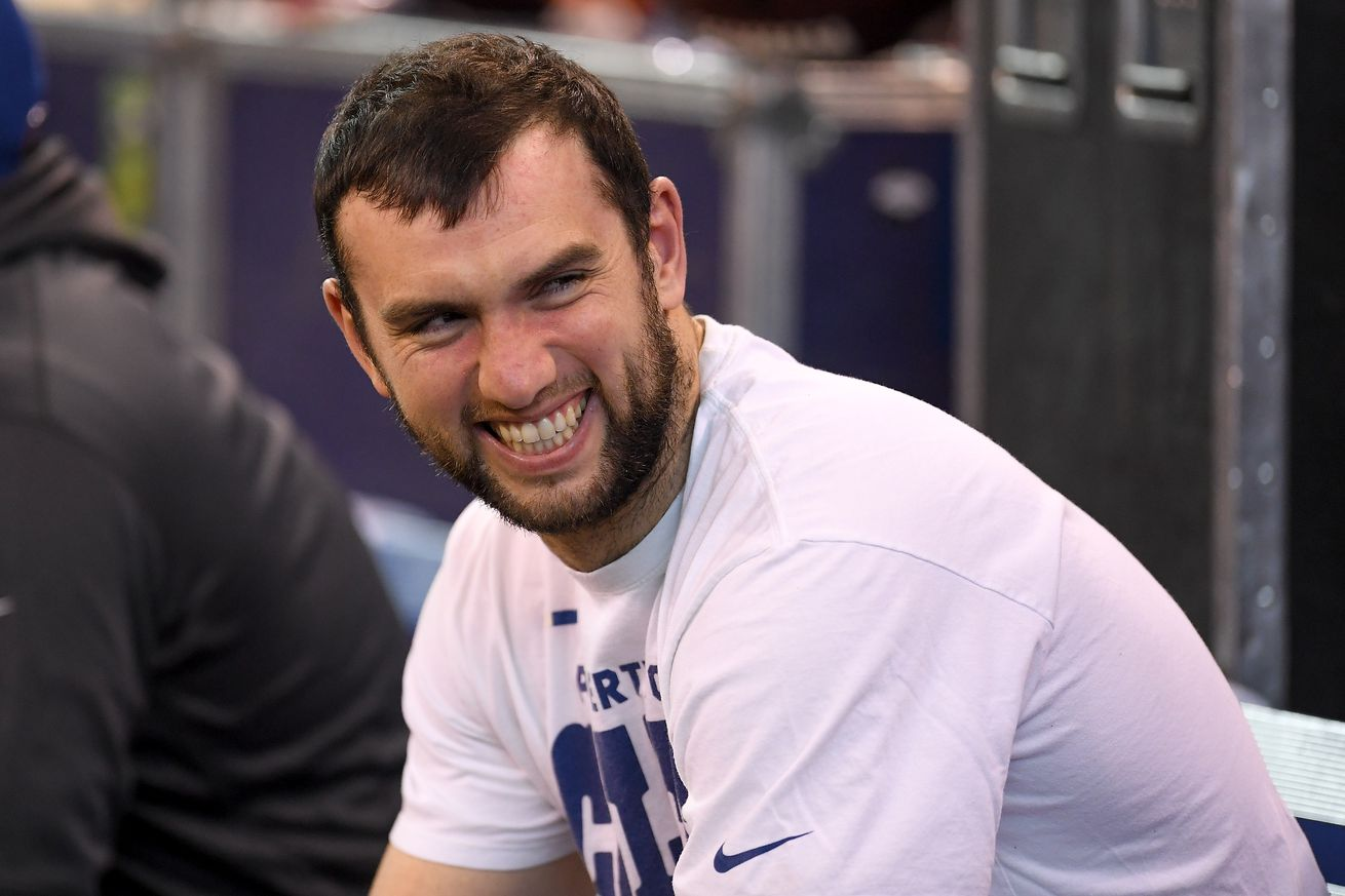 """Colts GM announces Andrew Luck """"good to go"""" for training camp"""