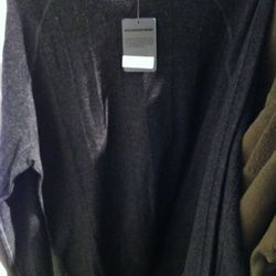 Close up of a T by Alexander Wang men's sweater.