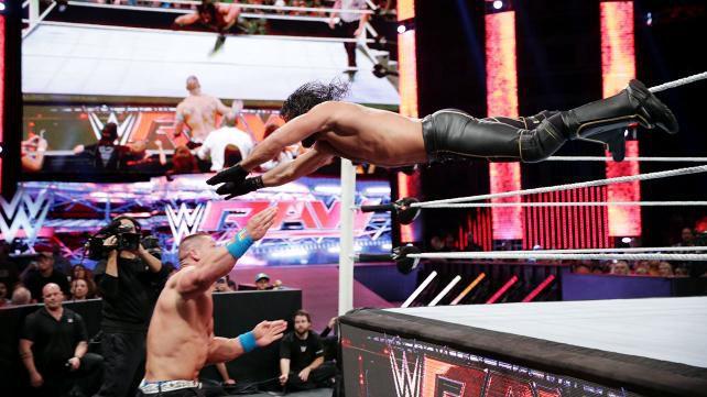 WWE Rollins Cena Raw