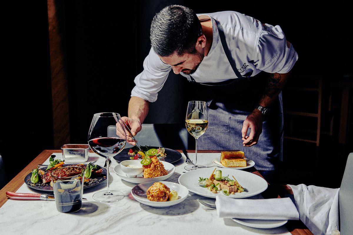 Executive chef Nickolas Martinez prepares dinner