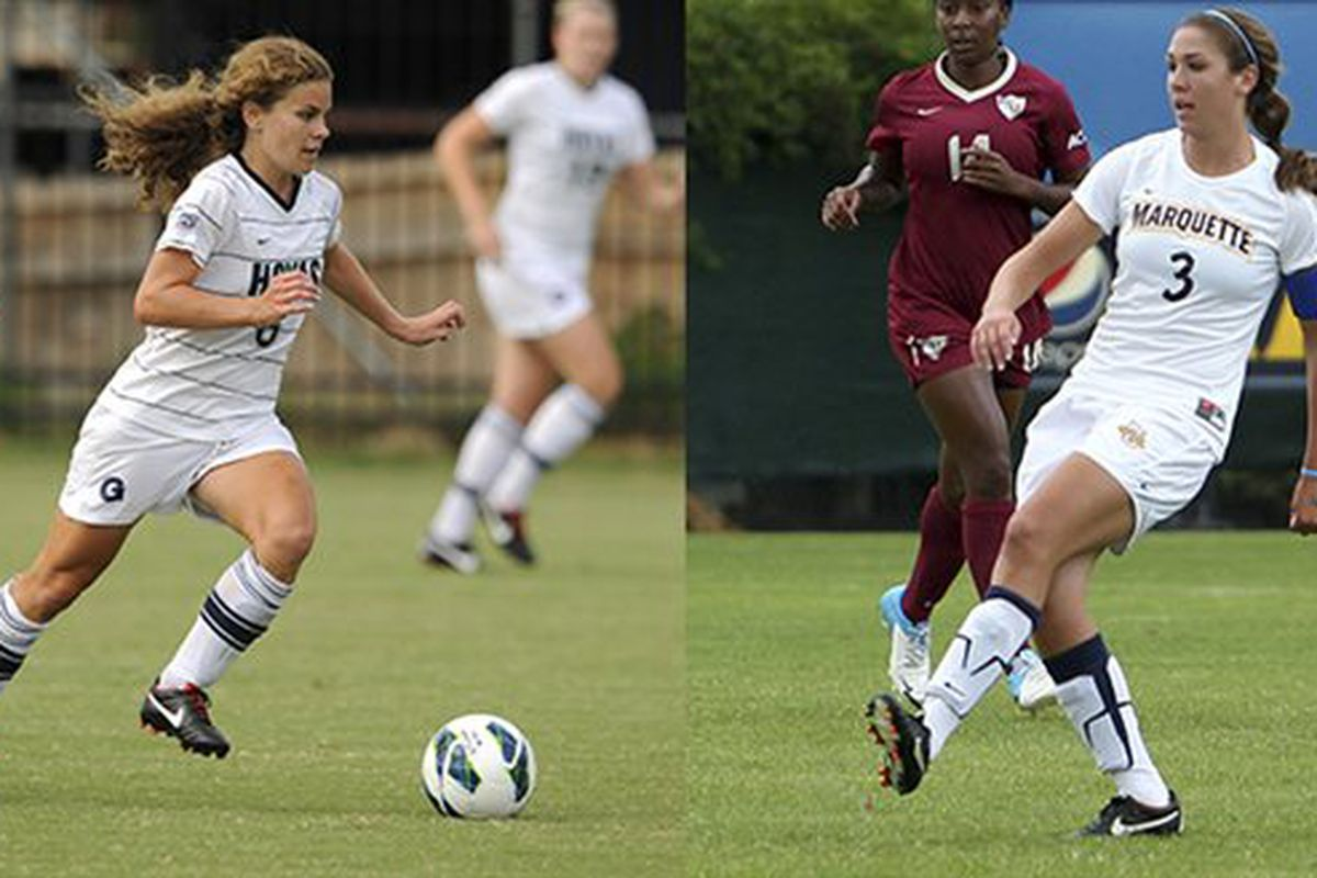 Georgetown's Daphne Corboz and Marquette's Ally Miller are the two feature players in today's match.