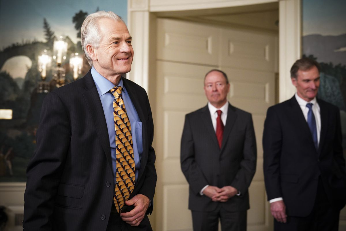 Director of Trade and Industrial Policy Peter Navarro arrives at the White House before President Trump signed trade sanctions against China on March 22, 2018.