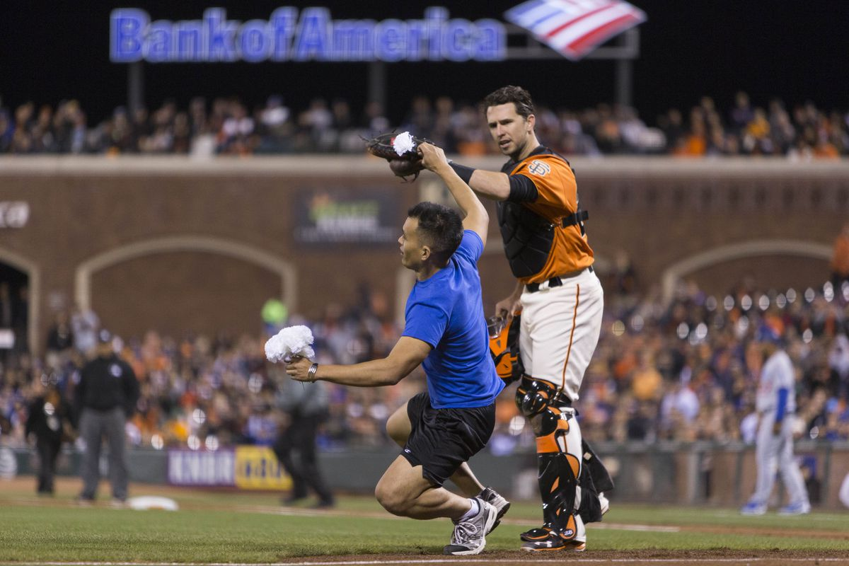 Buster Posey clears a path for Gordon Beckham's arrival.