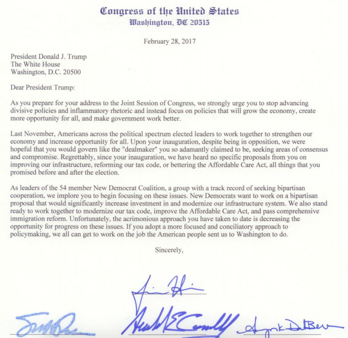 Moderate dems send letter pleading with trump we implore you to ahead of the presidents address to a joint session of congress tuesday night leading members of the new democrat coalition sent a letter to trump saying ccuart Gallery