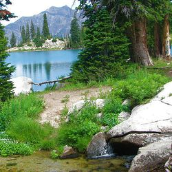 9. This is the south end of the Red Pine Lake. In the foreground is the stream filling the lake.