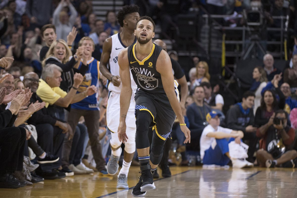0458aa6b1cd NBA scores 2017  Stephen Curry made 10 threes in his first game back from  injury