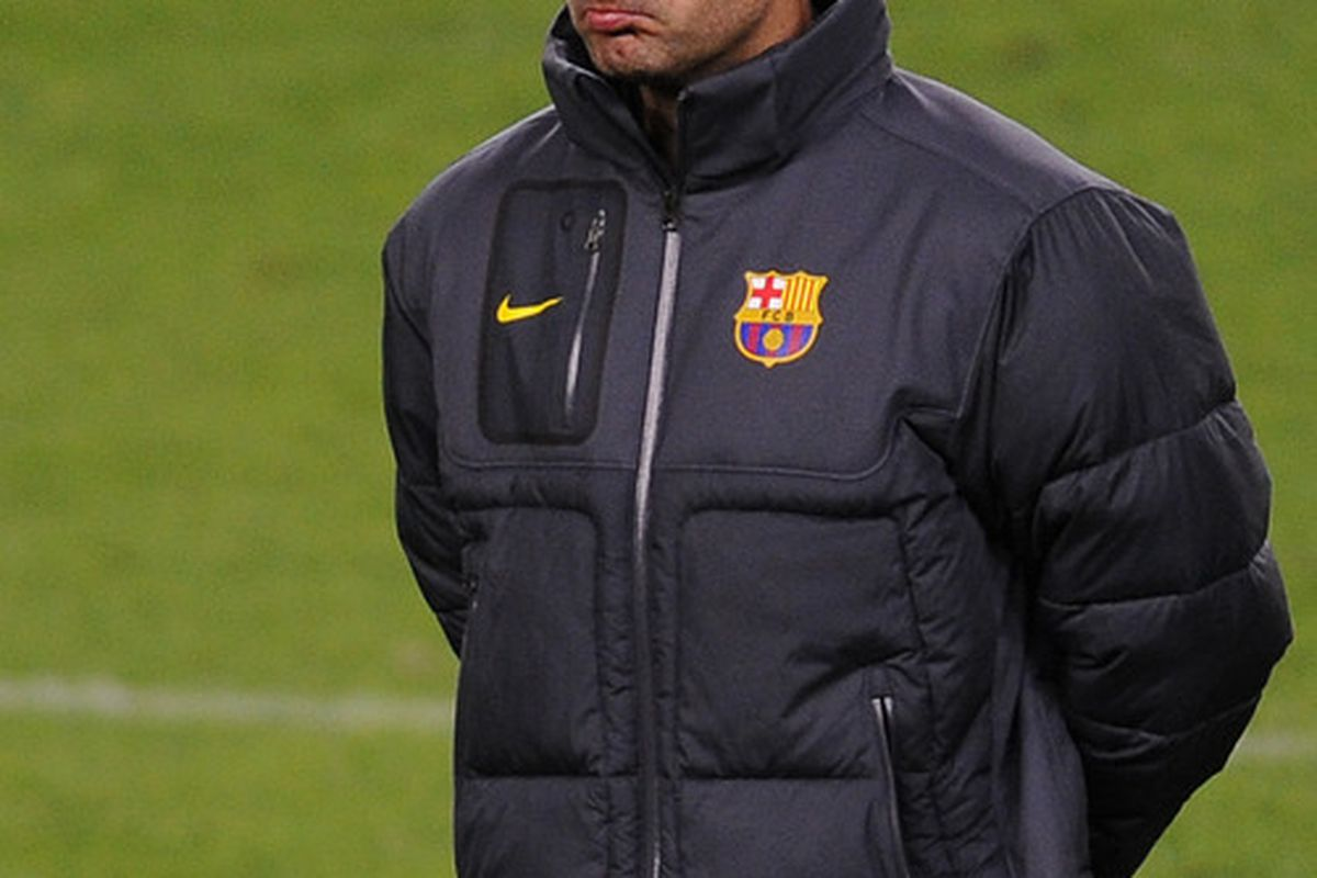 Wonder if this is Pep's poker face?