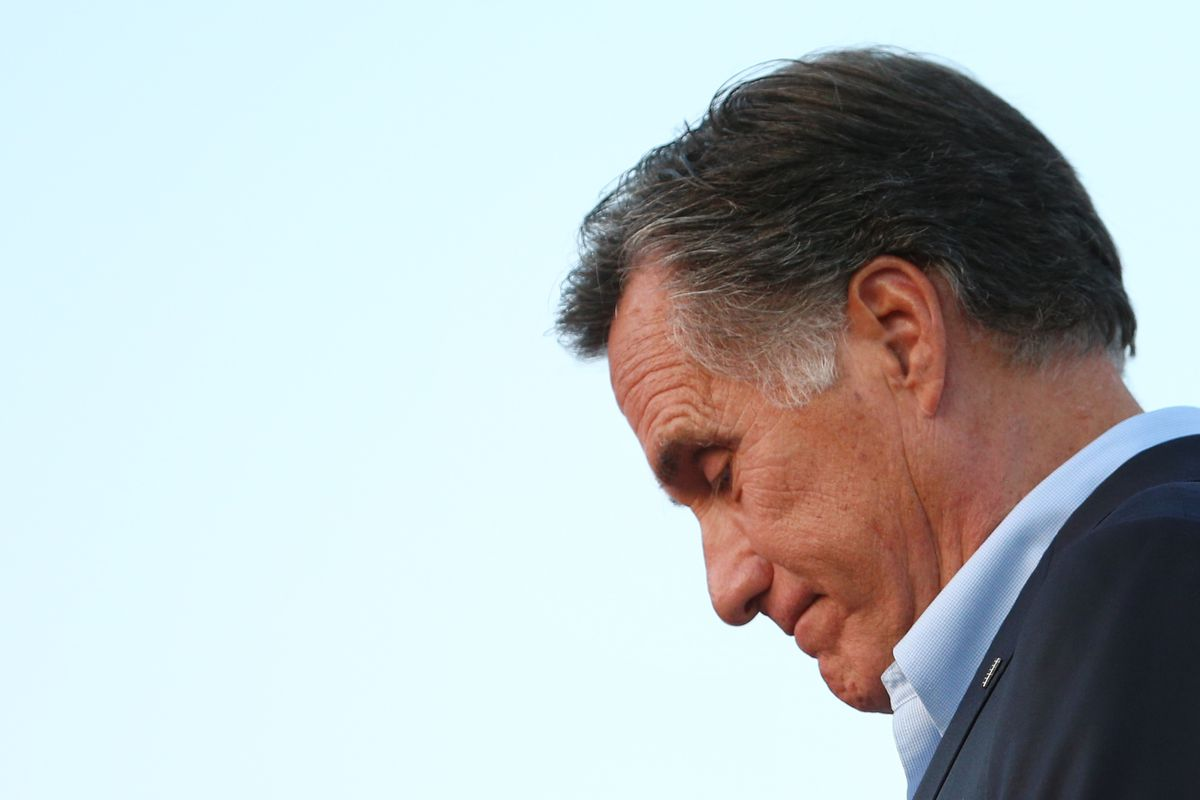 Mitt Romney talks to supporters in Orem, Utah in June 2018. The US Senate candidate in Utah released a lengthy statement on the eve of the anniversary of the Unite the Right rally in Charlottesville, Virginia.
